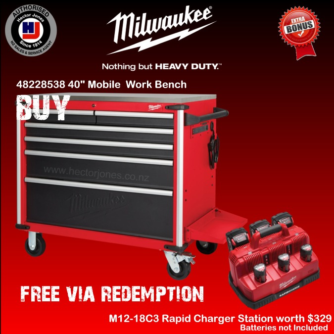 Superb Milwaukee 40In Mobile Work Bench Steel Top Forskolin Free Trial Chair Design Images Forskolin Free Trialorg