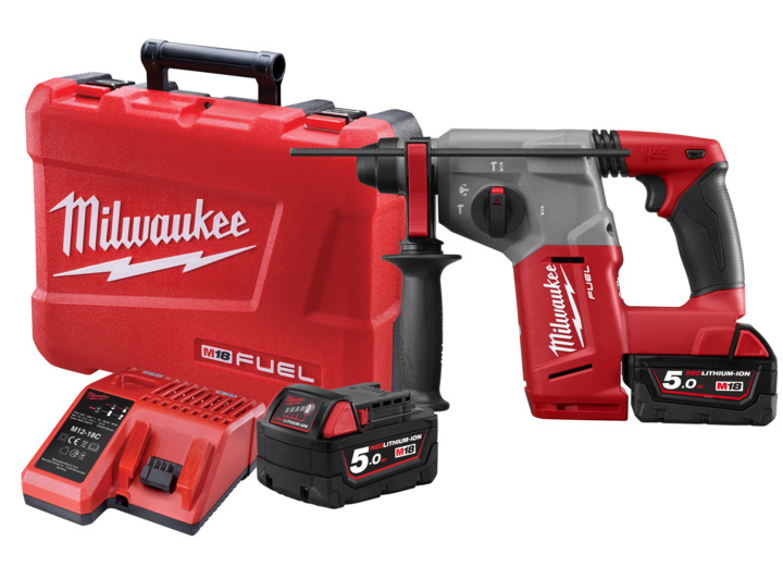 M18 Drilling: Milwaukee M18 FUEL 18v 3 Mode 26mm SDS Plus Rotary Hammer  Drill Kit